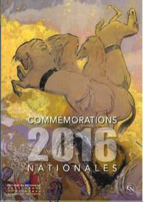 Couverture du recueil des Commémorations nationales 2016, disponible en librairie