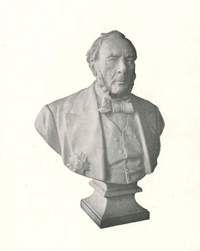 Buste de Jean-Baptiste Boussingault, inauguré le 14 juin 1913 © EMSE