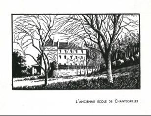Site de Chantegrillet, dessin1954 ©Association ICM