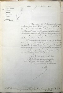 Lettre du 17 août 1870 © ADL