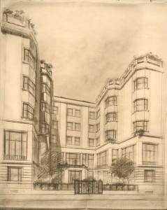 Dessin d'architecte © Mines Alumni Saint-Étienne