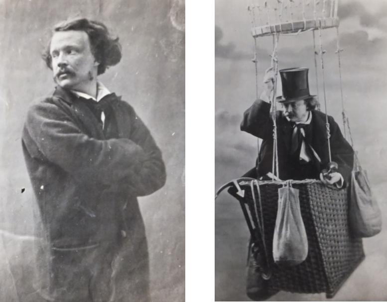 Deux autoportraits de Nadar issus des archives de l'association des Ingénieurs civils des Mines de Saint-Étienne.