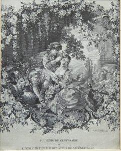 Tableau signé P. Staron et fils, tissé pour le centenaire de l'École des Mines – Collection Gérard Thomas