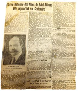 Article de « La Loire » du 8 mai 1921 © Archives municipales de Saint-Étienne