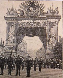 Arc de triomphe dressé pour la visite du président Félix Faure © Archives municipales de Saint-Étienne