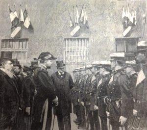 Le président Félix Faure et les élèves, Le Monde illustré 1898 © Archives municipales de Saint-Étienne