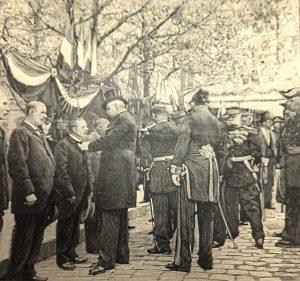 Remise de médailles par le président Félix Faure © Archives municipales de Saint-Étienne
