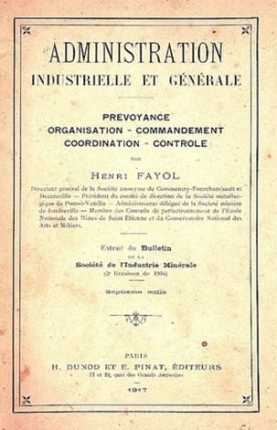 Ouvrage d'Henri Fayol © Mines Saint-Étienne Alumni