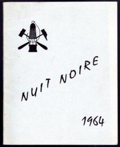 Dernière édition de La Nuit Noire, hors-série de «La Mine noire», 1964 © Ecole des Mines de Paris
