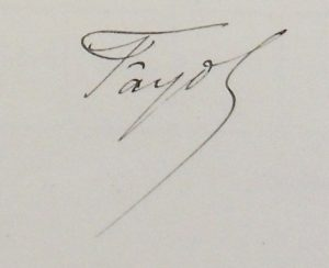 Signature d'Henri Fayol © Archives Sciences Politiques, Paris