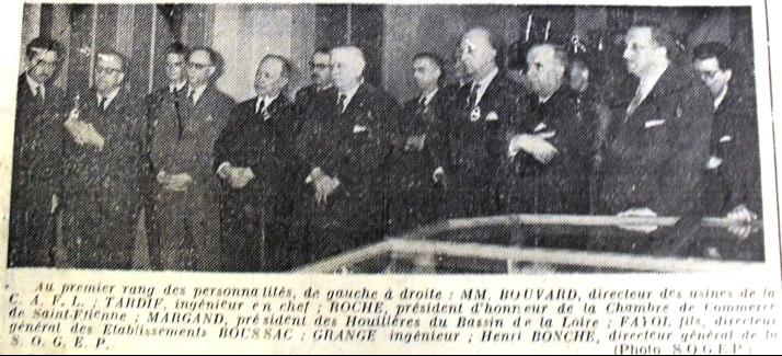 La remise du buste d'Henri Fayol, La Tribune 12 mai 1958 © AMSE