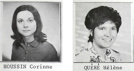 Les deux élèves de la promotion 1971-74 qui succèdent à Marcelle Schrameck © EMSE déposées aux ADL