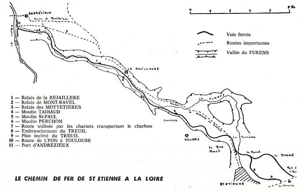 Tracé du chemin de fer Andrézieux – Saint-Etienne, In Bulletin du Centre d'Histoire régionale de l'Université de Saint-Étienne No 1 (1978)