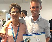 Entrepreneuriat pratique: 1er prix pour deux étudiants