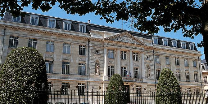 La façade de l'école, au 158 cours Fauriel à Saint-Étienne